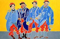 Henri Landier (°1935) Le quatuor de la Marne, 2017 Pierre Mac Orlan, Art World, Contemporary Artists, Les Oeuvres, Movie Posters, Self Portraits, Toile, Radiation Exposure, Artist