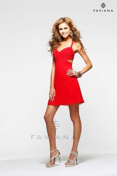 Style #7201 - Available in Red, Size 8 www.anniesroombridal.com