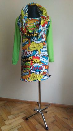 Dress with print comics // thestylefactory.pl //