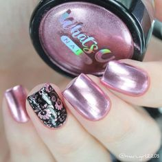 Rose Chrome Powder For Mirror Nails | Etsy Mary Janes, Polish Words, Rose Gold Chrome, Chrome Powder, Mirror Nails, Floral Nail Art, Chrome Nails, Beautiful Nail Designs, Us Nails