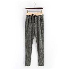 Gray Drawstring Waist Sweat Pants With Pockets