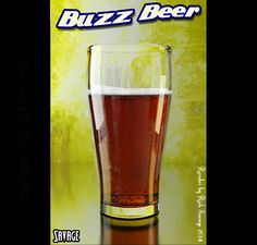Buzz Beer Render.  Created by Rick Savage - Blender 2.69
