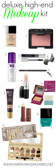 Best High-End Makeup Products - Hairspray and Highheels