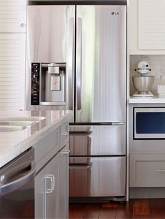 If sleek styling is your mandate, be sure to consider a counter depth refrigerator.