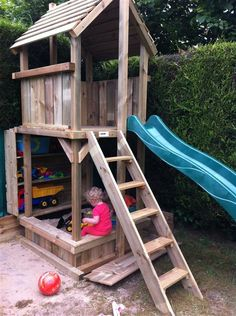 Building your little one a playhouse in the backyard will surely make them happy. There are a few things you should know before you build a playhouse for kids. Kids Backyard Playground, Backyard Playset, Backyard Playhouse, Playground Design, Backyard For Kids, Kids Outdoor Play, Outdoor Play Spaces, Kids Play Area, Small Patio Ideas On A Budget