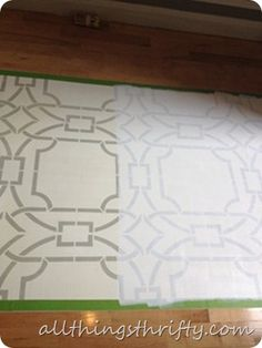 How to stencil a floor (good tips on what to do and what not to do).