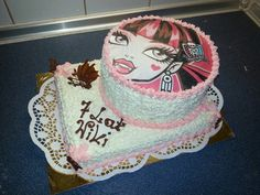 Tort Cake z oplatkiem Monster High piętrowy