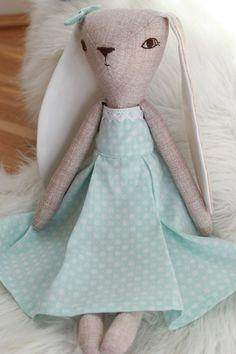 Bunny doll, heirloom doll, cloth doll, ragdoll   by HoppDolls