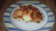 Schollenfilet mit Tomate und Mozzarella