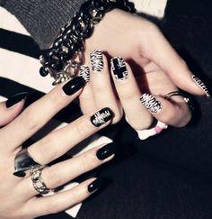 pura manual de uñas decoraciones de arte de cebra punk rock falsas uñas de diseño de productos de bricolaje