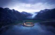 Snøhetta Designs Energy-Positive Lakeside Hotel in the Arctic Circle