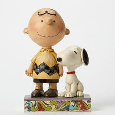 Jim Shore Charlie Brown and Snoopy Life is Better with a Dog