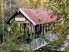 Old Union Crossing Covered Bridge Atop Lookout Mountain, CR 614  Mentone, AL 35984