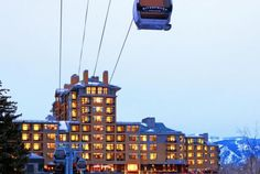 What a great way to get around: the Gondola across the Eagle River! The Westin Riverfront Resort & Spa in Beaver Creek, Colorado