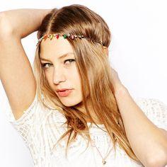 >> Click to Buy << 1 PC Hot Sale Women Bohemian Alloy Chain Headband Rhinestone Stone Headbands Elastic Rubber Hair Band Jewelry  DPSaiLYY #Affiliate