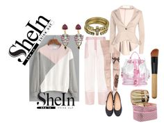 """""""SHEIN SWEET PINK"""" by michelle858 ❤ liked on Polyvore featuring shein"""