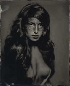 Photography by Igor Vasiliadis. Sinar P2 + Zeiss Tessar 16. Wet plates on blackened silver. In People, Portrait, Female. 100628-0002, photography by Igor Vasiliadis. Image #214989
