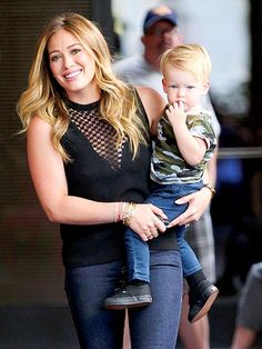 Hilary Duff and her son Luca...glad to see one of my childhood heroes is still so down to earth! :)