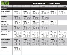 BodyBeastWorkoutSheets  Body Beast Workout Sheets