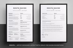 Resume/CV - Logan by bilmaw creative on @creativemarket #cv #resume ...