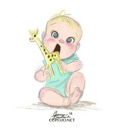 Baby cartoon, cute art, kids and parenting Character Design Cartoon, Kid Character, Character Design References, Family Illustration, Character Illustration, Cartoon Drawings, Cute Drawings, Baby Painting, Baby Art