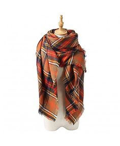 4a39373fbc17a Women s Soft Plaid Blanket Scarf Long Warm Tartan Checked Wrap Shawl at  Cheapcapssmall Women s Scarves store