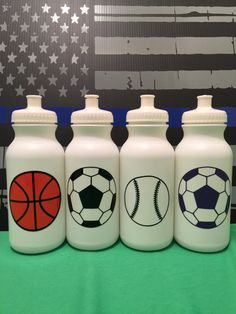 Personalized water bottles, Custom water bottles, water bottles, Party favors, party favor water bottles, sport water bottles, custom gifts by IdahoEmbroidery on Etsy
