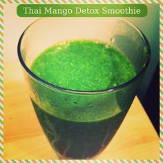 Thai Mango Detox Smoothie via Fitful Focus