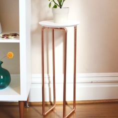 Use copper to make this simple, but beautiful plant stand. Under $20 to make!                                                                                                                                                                                 More
