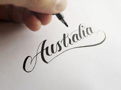 Brush Pen Lettering Videos of 2013 by Matt Vergotis, via Behance