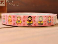 1 PC Matryoshka Flower Craft Tape Deco Tape 15mm Gift Package Scrapbooking Pink | eBay