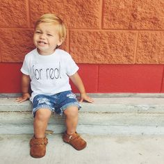 For Real  baby and kids graphic tee - Little Beans Clothing: @dailyjackpaul hipster baby, baby boy fashion, baby clothes, unisex baby clothing.