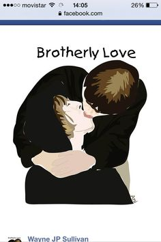 Brotherly love.  Un bonito gesto entre hermanos. #oasis #liamgallagher #noelgallagher #Ani