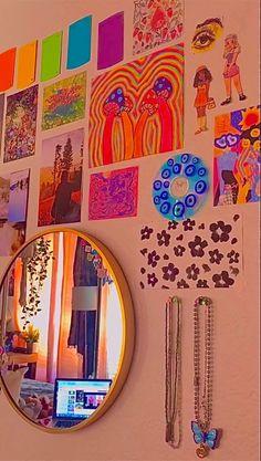 Indie Bedroom, Indie Room Decor, Cute Room Decor, Aesthetic Room Decor, Retro Room, Vintage Room, Chambre Indie, Chill Room, Neon Room