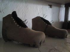Šití Festovních pohorek z - 7 mm kruponu (leather 16 - 17 oz. Bushcraft, Boots, Leather, Crotch Boots, Shoe Boot, Camping Survival