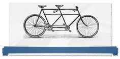 A Bicycle Built For Two Site Logo.... real wedding inspiration for LGBT couples. Great site!!
