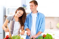 Couple Cooking Together. Happy Couple Cooking Together. Healthy Food Swaps, Healthy Eating, Healthy Recipes, Omega 3, Pre Marriage Counseling, Couple Cooking, Jus D'orange, Cooking Together, Recipe Images