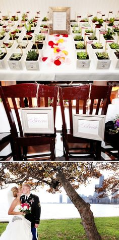 top photo - placecards/wedding favors in one