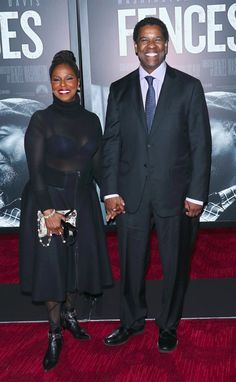 Denzel Washington and His Wife Show Off Their 33-Year Marriage on the Red Carpet