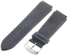 Philip Stein 3-CVOBL 22mm Leather Calfskin Blue Watch Strap -- Details can be…