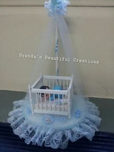 Hand Made Baby Shower Centerpieces   Details about HANDMADE BABYSHOWER CRIB FAVOR/ CENTERPIECE