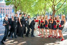 Fun #bridalparty picture!  Photos by Clane Gessel Photography   #weddings #actnatural #brideandgroom