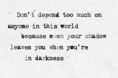 I am a lone wolf.