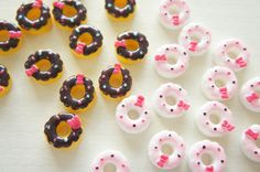 8 pcs Chocolate Coated Doughnut Cabochon 15mm CD475 by misssapporo, $4.50