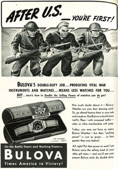 Patriotic Jewelry Ads From 1942: After us your first! http://www.allthingsluxury.biz