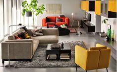 Sofás coloridos e baratos Ikea