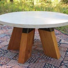 Concrete Furniture | Wood & Steel Design | Sonoma County Art, cone coffee table