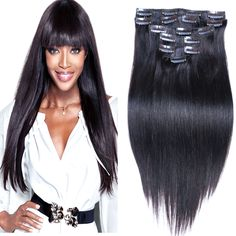 Change Your Look In Seconds With Human Hair Clip In Extensions – My Hair Extensions Best Human Hair Extensions, Clip In Hair Extensions, Human Hair Clip Ins, Womens Wigs, Wigs For Black Women, Dark Hair, Beauty Style, My Hair, Hair Clips