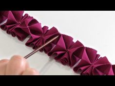 How to Make Pleated Trim from Petersham - YouTube