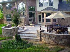 Top 60 Best Paver Patio Ideas – Backyard Dreamscape Designs - All For Garden Backyard Patio Designs, Backyard Landscaping, Patio Ideas, Landscaping Ideas, Backyard Ideas, Large Backyard, Garden Ideas, Paver Designs, Rack Tv